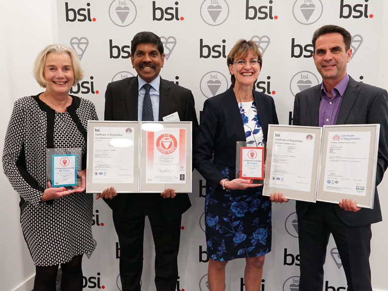 CP Electronics receives long service awards