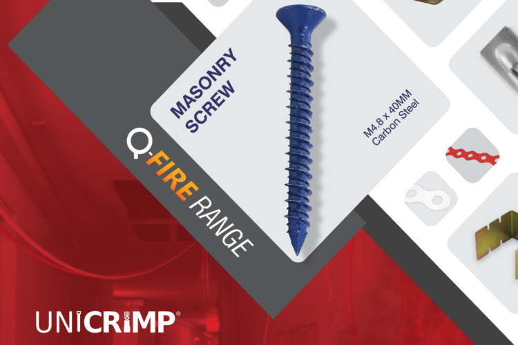 Unicrimp masonry screws July 2020