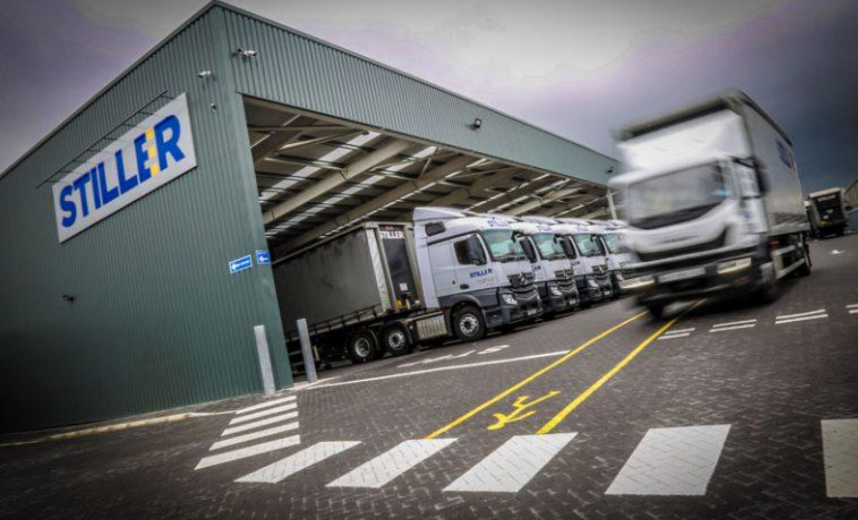 C-TEC CAST XFP addressable fire alarm system specified for a high-tech logistics site