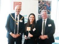 John Henry (far right) and EDA apprentice winner at recent awards