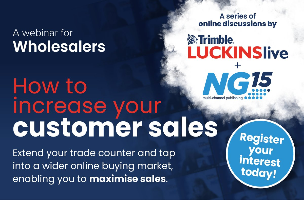 Trimble LUCKINS & NG15 to hold a series of webinars for electrical wholesalers