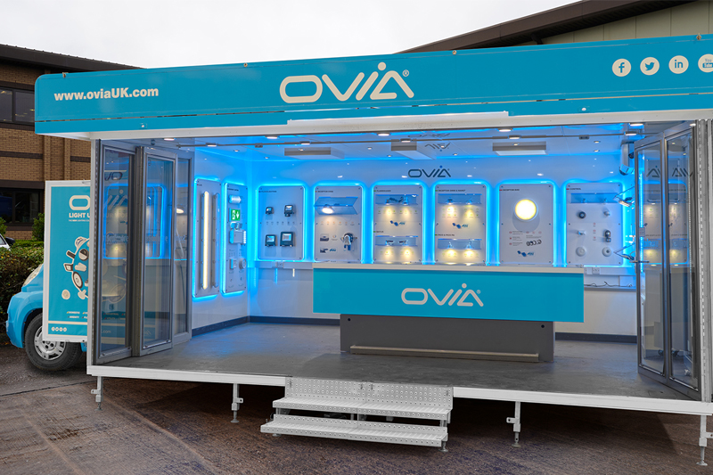 Ovia mobile lighting showroom is back on the road